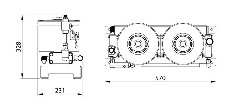Dimensions du filtre Cardev 2S-350-C4
