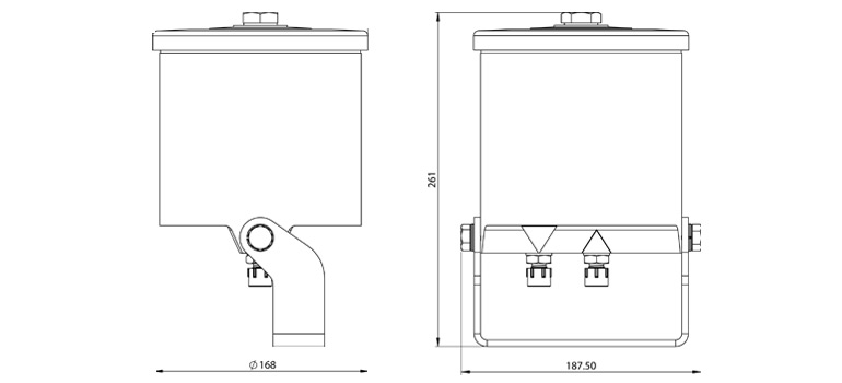 Dimensions du filtre Cardev HDU-H8
