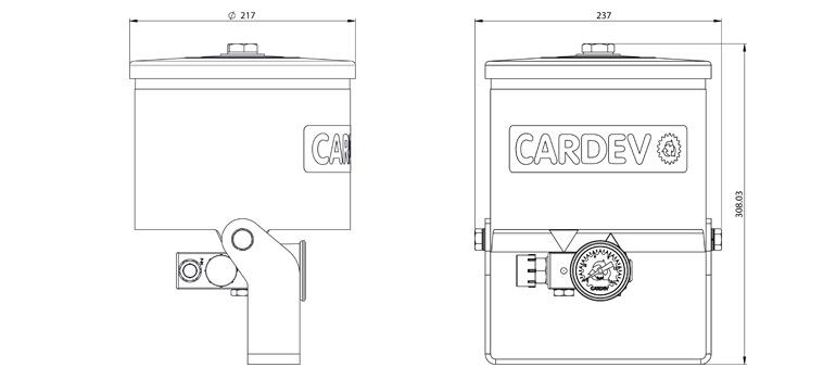 Dimensions du filtre Cardev SDU H350BM2