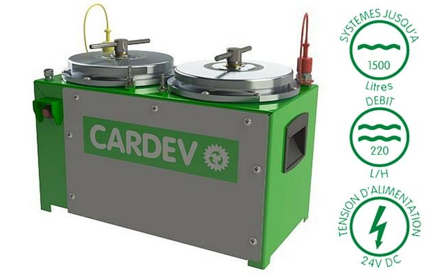 Filtration mobile cardev 2S 24V 500