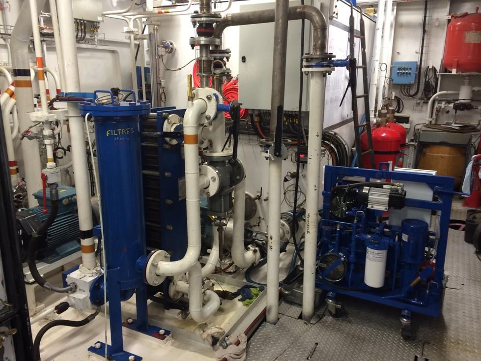 Intervention de filtration sur site - BARGE ANDRE GENDRE
