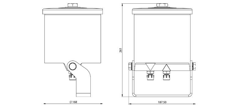 Dimensions du filtre Cardev HDU-M8