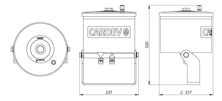 Dimensions du filtre Cardev SDU-H8UW-S