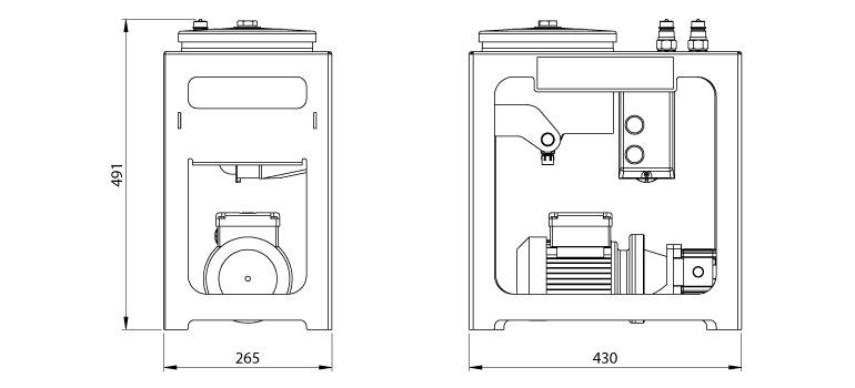 Dimensions du système de filtration Cardev 1s-140PG