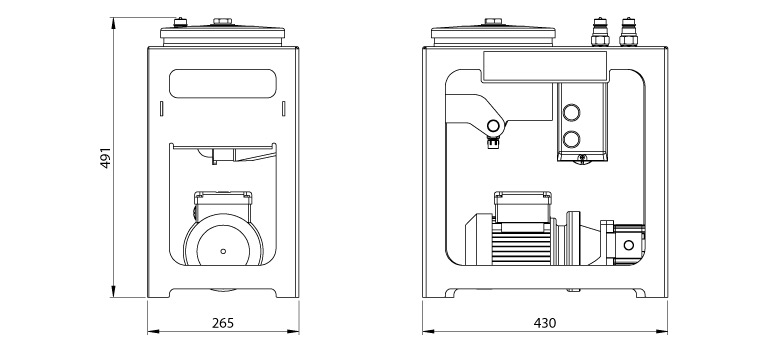 Dimensions du système de filtration Cardev 1S