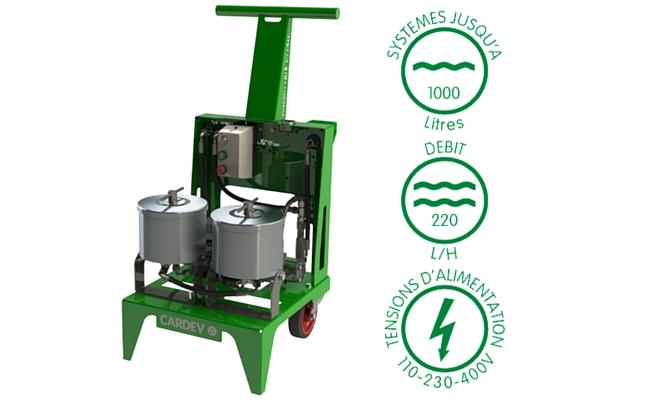 Filtration mobile cardev 2S 500B