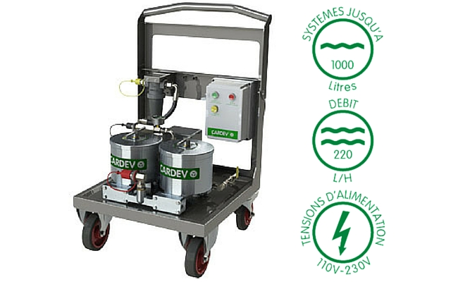 Filtration mobile cardev 2S 500E