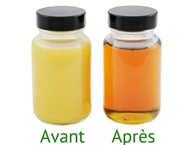 Résultat après filtration des huiles
