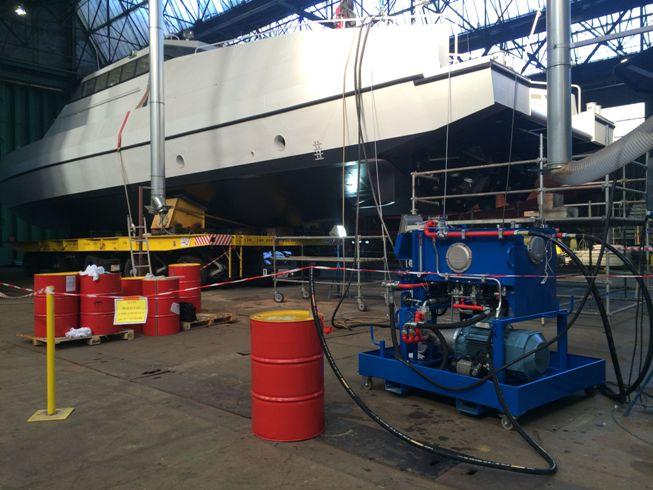Groupe de Flushing/Epreuve 180 L/min- 500 Bar – Constructions Mécaniques de Normandie (1/3)