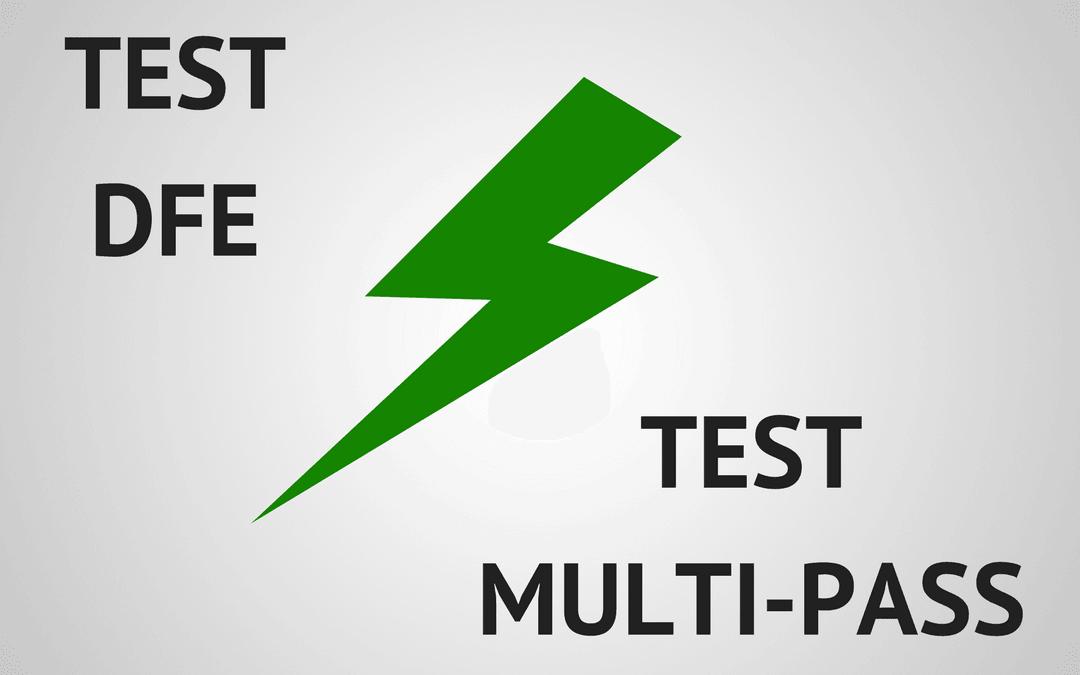 Test Multi-Pass VS Test DFE pour la fabrication d'éléments filtrants adaptables