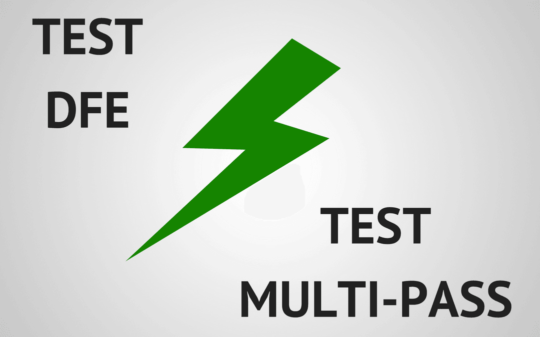 Test multi-pass vs test dfe fabrication éléments filtrants