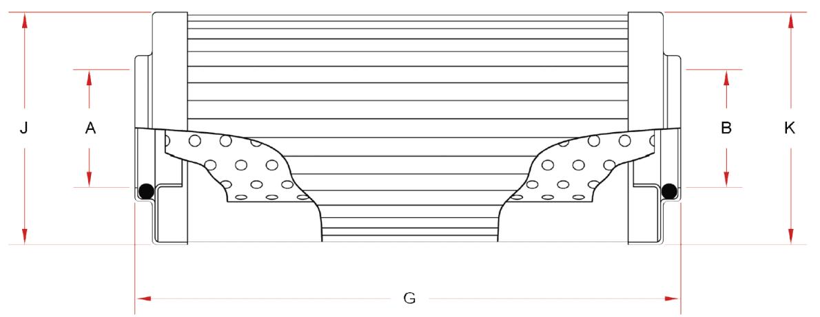 Dimensions pour l'identification des références de cartouche