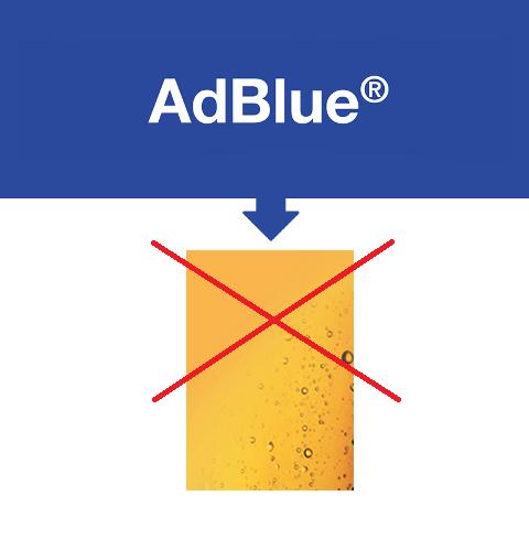 AdBlue® versé dans de l'huile hydraulique